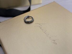 Annoushka Dusty Diamonds 10 mm Black/White Gold 18k Earring Hoop NEW RRP £395