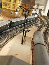 10 schwarze 2-flammige LED Bahnsteiglampen, 69mm hoch (aus Metall)