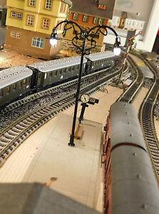 10 Black 2-flammige Bahnsteiglampen, 2 23/32in, Brass, With Warmweißer LED