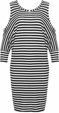 Viscose Regular Size Striped T-Shirts for Women