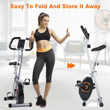 Upright Exercise Bike Fitness Folding Magnetic Exercise Bicycle Home Cycle Gym