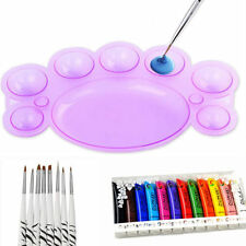 Nail Art Dappen Dish for Paint Color Mixing Palette UV Gel Brush Tools ES