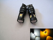 2pcs 7443 SRCK / CK  Samsung 3030SMD high power LED White Yellow Switchback