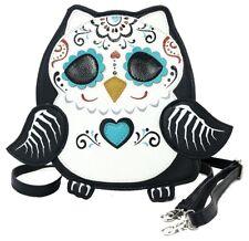 Sleepyville Critters Sugar Skull Owl Cross body Shoulder Bag Handbag Purse