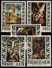 [Z5] Paraguay 1967 Mi 1682-1686 Paintings MNH