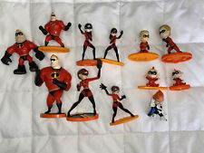 New listing disney the incredibles 12 pc toy lot figures