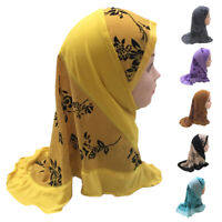 One Piece Muslim Kid Girls Hijab Amira Scarf Turban Headscarf Wrap Shawl Islamic