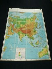 """Vtg Pre 1939 Rand McNally Folded Dissected Asia Map Folds to Case Booklet 40x57"""""""