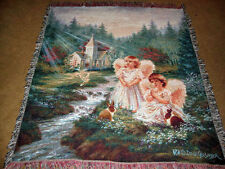 Angel Collection Believe Tapestry Afghan Throw ~ Dona Gelsinger