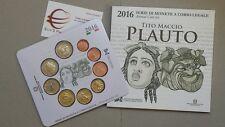 2016 BU 9 pièces 5,88 EURO ITALIE fdc ITALIA 2 Plauto KMS ITALIEN ITALY Италия