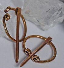 2 x Bronze Fibeln f. Wadenbänder Wadenwickel Mittelalter klein 2 cm Ringfibeln