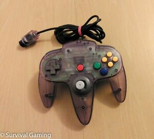 Official Nintendo 64 N64 Controller Control Pad, Clear Purple, Tested & Working