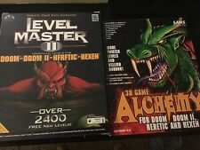 Level Master II PC Game - Doom 1&2 - Herftic - Hexen - Never Been Used