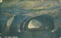 Hastings The Caves 1906 Postmark