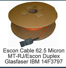 IBM GLASFASERKABEL ROLLE 31METER P/N 14F3797 ESCON CABLE 62.5 MICRON MT-RJ/ESCON