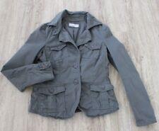 IQ BERLIN Blazer Jacke Jacket Effektgarn Grün Gr. 36 S (BC18)