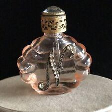 VINTAGE CZECH BOHEMIAN FILIGREE SCENT BOTTLE