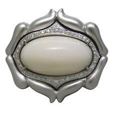 Donald Huber Princess Wave Coral Diamond 18K Gold Ring