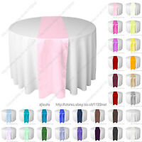 Red Black Purple teal green blue thick satin wedding table runner table runners