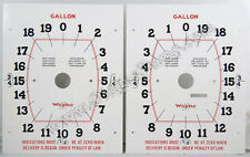 Wayne Clock Face Gas Pump Model 866 Face Plates Part # PF-131