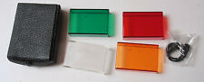"""1.5 x 2.25"""" Diffusion and Color Filter Set with Sync Cord - USED EX+ D36"""
