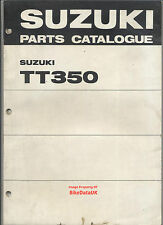 Suzuki TT350 (1971-1973) Fully Illustrated Parts Catalogue T/TT 350 T350 Twin