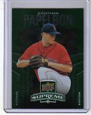 2010 UPPER DECK **SUPREME GREEN** JONATHAN PAPELBON INSERT CARD