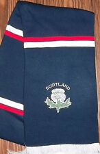 SCOTLAND EMBROIDERD THISTLE SCARF