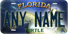 Turtle Florida Aluminum Any Name Personalized Car Novelty License Plate