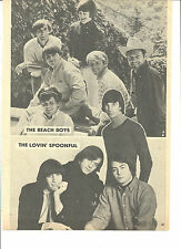 The Beach Boys, The Lovin' Spoonful, Full Page Vintage Pinup
