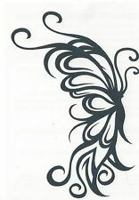 TRIBAL BUTTERFLY BLACK Temporary Tattoo