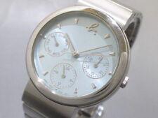 Auth agnes b V33J-6B50 Light Blue Silver 934864 Women's Wrist Watch