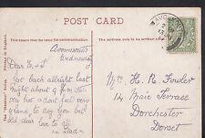 Genealogy Postcard - Ancestor History - Fowler - Dorchester - Dorset  BS777