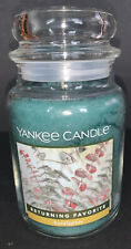 Yankee Candle EUCALYPTUS Large 22 Oz Jar Candle / Free Shipping
