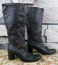 FRED DE LA BRETONIERE Damen Gr. 39 super Stiefel Echtleder High Heel Boots #F1