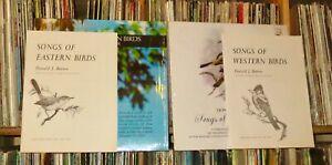 "DONALD J. BORROR ""Songs Of Eastern & Western Birds"" 2 LP & Booklets (shrink/NM)"