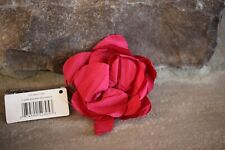 NEW REMINGTON RED SILK FLOWER  CLIP PONYTAIL FOR HAIR VERY CUTE