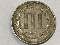 3 Cent Nickel USA Three Cent 1867 (#141#)