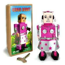 Venus Robot Windup Tin Toy Girl - USA Seller