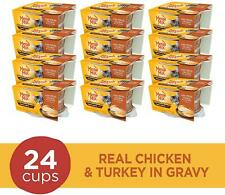Meow Mix Simple Servings Wet Cat Food with Real Chicken Turkey 24 Cups 1.3 oz