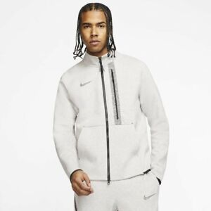Nike Tech 50 Fleece Jacket Sz M Grey Heather Black New CJ4500 902