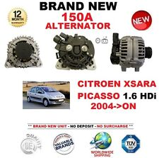 FOR CITROEN XSARA PICASSO 1.6 HDi 2004-ON NEW 150A ALTERNATOR with CLUTCH PULLEY