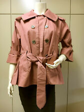 $$$$ BCBG MAXZZRIA DARK BLUSH (AKR41758) 3/4 SLEEVE WOVEN JACKET TOP NWT S