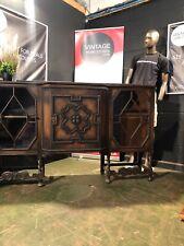 More details for can delivery large antique oak jacobean style dresser sideboard
