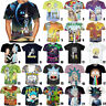 Women Men 3D T-Shirt Cartoon Rick and Morty Print Casual Short Sleeve Tops Tee