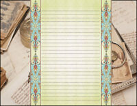 Victorian Inspired Design Lined Stationery Writing Set, 25 sheets & 10 envelopes