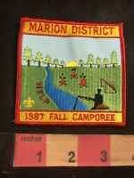 Vtg 1987 MARION DISTRICT FALL CAMPOREE Boy Scout Patch O91C