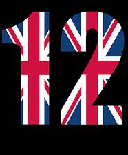 Wheelie Bin Numbers. Union Jack Design x 2 Numbers. 176mm High