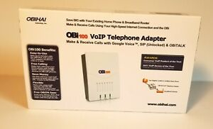 OBIHAI OBi100 VoIP Telephone Adapter: Google Voice, SIP (Unlocked), OBiTalk