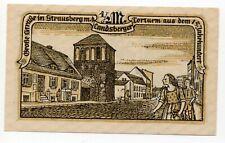 Duitsland / Germany - notgeld - Strausberg - 1/2 Mark